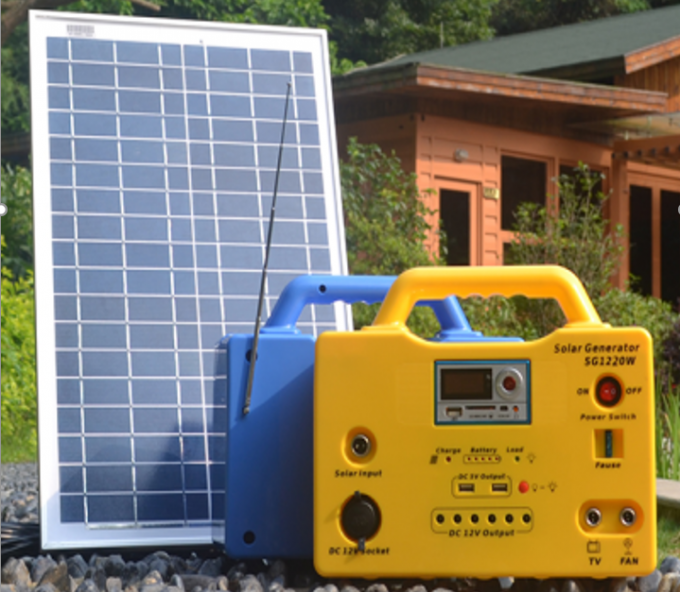 20W Mini Household Solar Lighting System DC 12V 9 Hours Charging Time