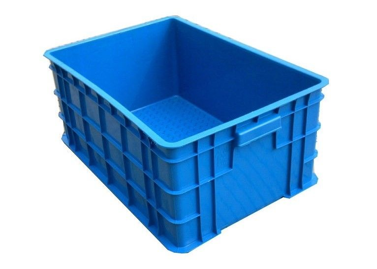Colorful Industrial Plastic Storage Boxes / Stackable Plastic Storage Bins Multi Size