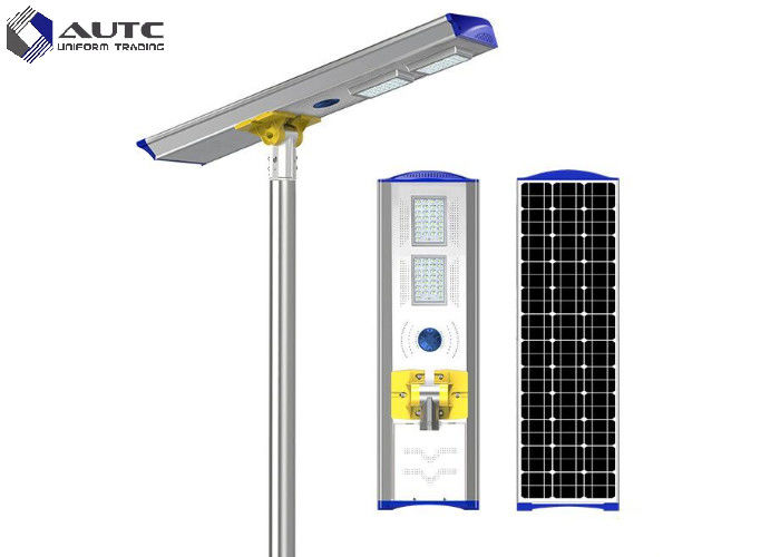 Light / Time Control Integrated Solar Street Light 70W 8000 Lumens CE Passed
