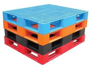 China 1 Ton 4 Way Euro Multi Colored Plastic Pallets For Warehouse And Racking System factory