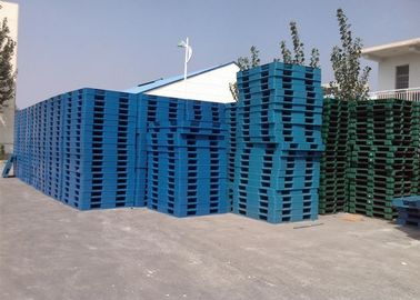 Blue Color Euro Industrial Plastic Pallets Heavy Duty Stackable 4 Ways Entry