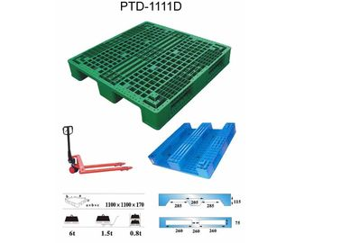Recycled Warehouse Heavy Duty Pallets / Plastic Export Pallets 1500mmx1500mm