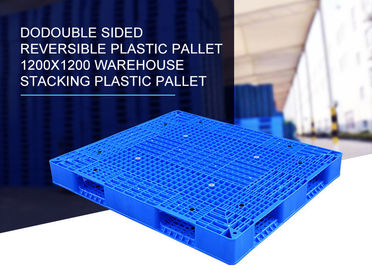 Open Deck Rack Euro Plastic Skids Pallets Recycled 1300mmx1200mm