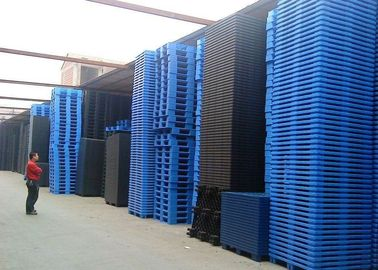 Industrial Blue Plastic Heavy Duty Pallets Stackable ISO 9001 SGS Certificate