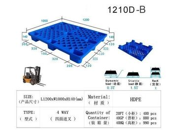 Heavy Duty Euro HDPE Plastic Pallet 1145mmx1145mm Size Four Way Entry