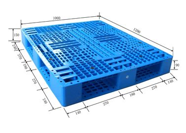 Collapsible Industrial Plastic Heavy Duty Pallets For Forklift / Warehouse Use