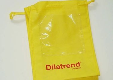 Non Toxic Drawstring Non Woven Fabric Bags AZO Free Customized Size / Color