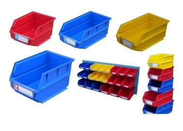 Multi Colored Heavy Duty Industrial Plastic Bins For Storage Cargo