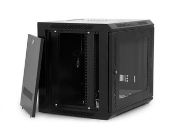 Cold Rolled Steel Network Rack Cabinet / Wall Mounted Data Cabinet 6U Capacity