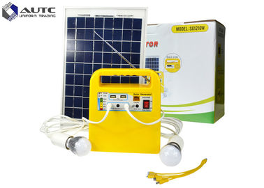 Yellow Household Solar Lighting System 10 Hours Lighting Time CE Approval