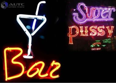 China Customized Multi Colored Outdoor Neon Lights Real Glass Handmade Bar Club Poster factory