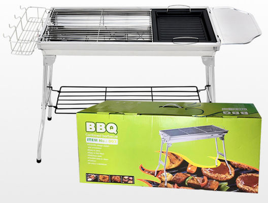 73*33.5*70cm Barbecue Outdoor Stainless Steel Barbecue Grill BBQ Carbon Grill Portable Folding Grill